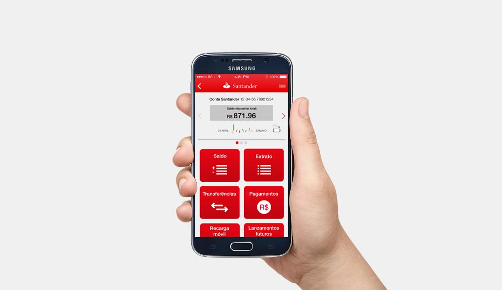 Santander ; app Brasil