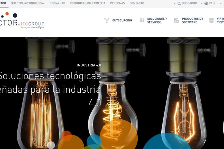 Vector | Inteligencia tecnológica; responsive web